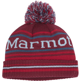 Marmot Retro Pom Hat Gutter Brick/Team Red